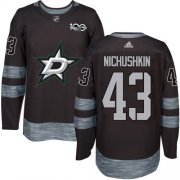Wholesale Cheap Adidas Stars #43 Valeri Nichushkin Black 1917-2017 100th Anniversary Stitched NHL Jersey