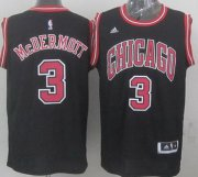 Wholesale Cheap Chicago Bulls #3 Doug McDermott Revolution 30 Swingman 2014 New Black Jersey
