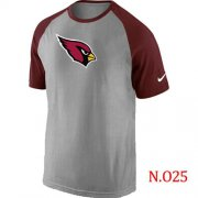 Wholesale Cheap Nike Arizona Cardinals Ash Tri Big Play Raglan NFL T-Shirt Grey/Red