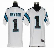 Wholesale Cheap Nike Panthers #1 Cam Newton White Youth Stitched NFL Elite Jersey