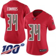 Wholesale Cheap Nike Buccaneers #34 Mike Edwards Red Women's Stitched NFL Limited Rush 100th Season Jersey