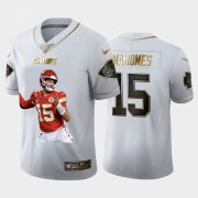 Cheap Kansas City Chiefs #15 Patrick Mahomes Nike Team Hero Vapor Limited NFL 100 Jersey White Golden