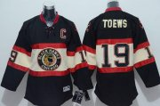 Wholesale Cheap Blackhawks #19 Jonathan Toews Stitched Black Youth New Third NHL Jersey