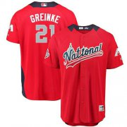 Wholesale Cheap Diamondbacks #21 Zack Greinke Red 2018 All-Star National League Stitched MLB Jersey