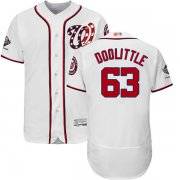 Wholesale Cheap Nationals #63 Sean Doolittle White Flexbase Authentic Collection 2019 World Series Champions Stitched MLB Jersey