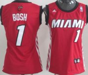 Wholesale Cheap Miami Heat #1 Chris Bosh Red Womens Jersey
