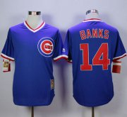 Wholesale Cheap Cubs #14 Ernie Banks Blue Cooperstown Stitched MLB Jersey