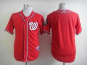 Wholesale Cheap Nationals Blank Red Cool Base Stitched MLB Jersey