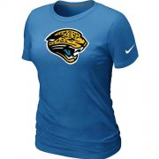 Wholesale Cheap Women's Nike Jacksonville Jaguars Logo NFL T-Shirt Light Blue
