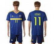 Wholesale Cheap Bosnia Herzegovina #11 Dzeko Home Soccer Country Jersey