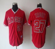 Wholesale Angels of Anaheim #27 Mike Trout Red Cool Base Stitched Baseball Jersey