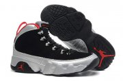 Wholesale Cheap Womens Air Jordan 9 Retro Johnny kilroy silver/black-red