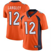 Wholesale Cheap Nike Broncos #12 Brendan Langley Orange Team Color Men's Stitched NFL Vapor Untouchable Limited Jersey