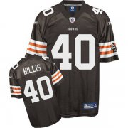 Wholesale Cheap Browns #40 Peyton Hillis Brown Stitched NFL Jersey