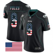 Wholesale Cheap Nike Eagles #9 Nick Foles Black Men's Stitched NFL Limited Rush USA Flag Jersey