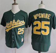 Wholesale Cheap Mitchell And Ness Athletics #25 Mark McGwire Green Throwback Stitched MLB Jersey