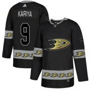 Wholesale Cheap Adidas Ducks #9 Paul Kariya Black Authentic Team Logo Fashion Stitched NHL Jersey