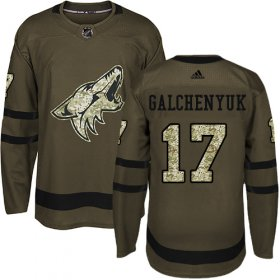 Wholesale Cheap Adidas Coyotes #17 Alex Galchenyuk Green Salute to Service Stitched NHL Jersey