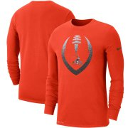 Wholesale Cheap Cleveland Browns Nike Fan Gear Modern Icon Performance Long Sleeve T-Shirt Orange