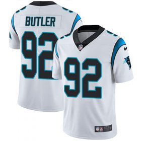 Wholesale Cheap Nike Panthers #92 Vernon Butler White Men\'s Stitched NFL Vapor Untouchable Limited Jersey