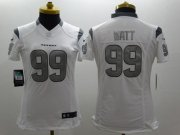 Wholesale Cheap Nike Texans #99 J.J. Watt White Women's Stitched NFL Limited Platinum Jersey
