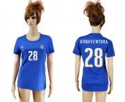 Wholesale Cheap Women's Italy #28 Bonaventura Home Soccer Country Jersey
