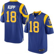 Wholesale Cheap Nike Rams #18 Cooper Kupp Royal Blue Alternate Youth Stitched NFL Elite Jersey