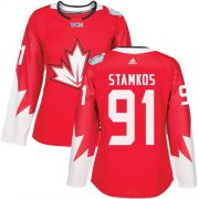 Wholesale Cheap Team Canada #91 Steven Stamkos Red 2016 World Cup Women's Stitched NHL Jersey