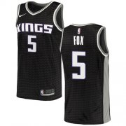 Wholesale Cheap Women's Sacramento Kings #5 De'Aaron Fox Black Basketball Swingman Statement Edition Jersey