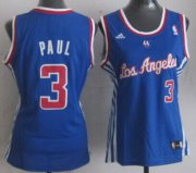 Wholesale Cheap Los Angeles Clippers #3 Chris Paul Blue Womens Jersey