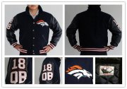 Wholesale Cheap Mitchell And Ness NFL Denver Broncos #18 Peyton Manning Authentic Wool Jacket