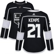 Wholesale Cheap Adidas Kings #21 Mario Kempe Black Home Authentic Women's Stitched NHL Jersey
