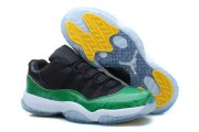 Wholesale Cheap Air Jordan 11 Low Green Sneakerin Shoes Green/black