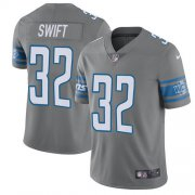 Wholesale Cheap Nike Lions #32 D'Andre Swift Gray Youth Stitched NFL Limited Rush Jersey