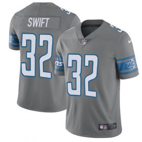 Wholesale Cheap Nike Lions #32 D\'Andre Swift Gray Youth Stitched NFL Limited Rush Jersey