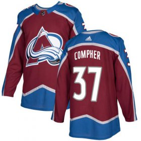 Wholesale Cheap Adidas Avalanche #37 J.T. Compher Burgundy Home Authentic Stitched NHL Jersey