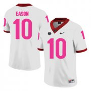 Wholesale Cheap Georgia Bulldogs 10 Jacob Eason White Breast Cancer Awareness College Football Jersey