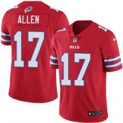 Wholesale Cheap Nike Bills #17 Josh Allen Red Men's Stitched NFL Limited Rush Jersey
