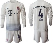 Wholesale Cheap Bayern Munchen #4 Sule Away Long Sleeves Soccer Club Jersey