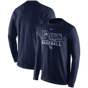 Wholesale Cheap Tampa Bay Rays Nike Practice Long Sleeve T-Shirt Navy