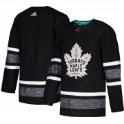 Wholesale Cheap Adidas Maple Leafs Blank Black 2019 All-Star Game Parley Authentic Stitched NHL Jersey