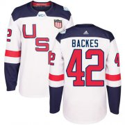 Wholesale Cheap Team USA #42 David Backes White 2016 World Cup Stitched Youth NHL Jersey