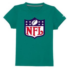 Wholesale Cheap NFL Logo Youth T-Shirt Green