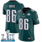 Wholesale Cheap Nike Eagles #86 Zach Ertz Midnight Green Team Color Super Bowl LII Men's Stitched NFL Vapor Untouchable Limited Jersey