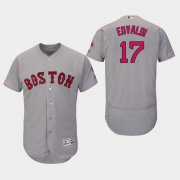 Wholesale Cheap Red Sox #17 Nathan Eovaldi Grey Flexbase Authentic Collection Stitched MLB Jersey