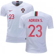 Wholesale Cheap Portugal #23 Adrien S. Away Kid Soccer Country Jersey