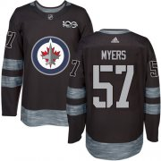 Wholesale Cheap Adidas Jets #57 Tyler Myers Black 1917-2017 100th Anniversary Stitched NHL Jersey