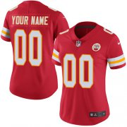 Wholesale Cheap Nike Kansas City Chiefs Customized Red Team Color Stitched Vapor Untouchable Limited Women's NFL Jersey