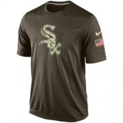 Wholesale Cheap Men's Chicago White Sox Salute To Service Nike Dri-FIT T-Shirt