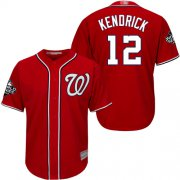 Wholesale Cheap Nationals #12 Howie Kendrick Red Cool Base 2019 World Series Champions Stitched MLB Jersey